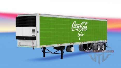 Kühl-Auflieger Coca-Cola Life für American Truck Simulator