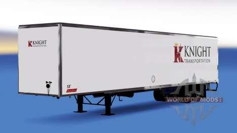 La peau sur le Chevalier de Transport semi-remor pour American Truck Simulator