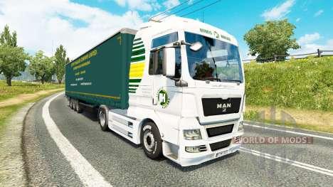 Jeffrys Spedition Haut für Traktoren für Euro Truck Simulator 2