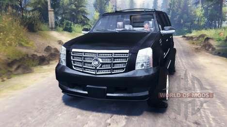 Cadillac Escalade pour Spin Tires