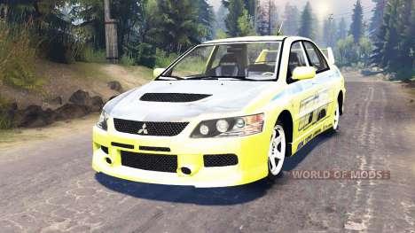 Mitsubishi Lancer Evolution IX [Форсаж 2] pour Spin Tires