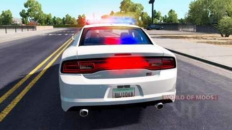 Dodge Charger Polizei im Straßenverkehr für American Truck Simulator