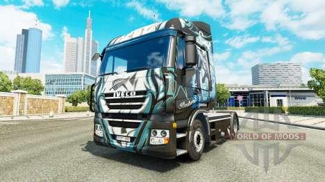 La peau Klanatrans sur le camion Iveco pour Euro Truck Simulator 2