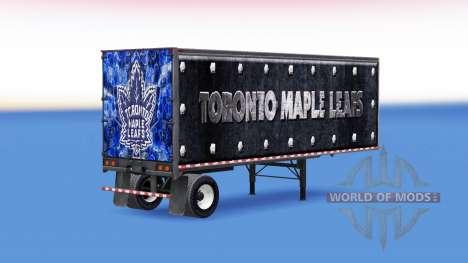Haut Toronto Maple Leafs auf dem Anhänger für American Truck Simulator