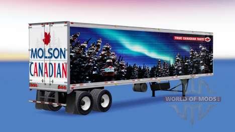 Haut von Molson Canadian auf dem Anhänger für American Truck Simulator