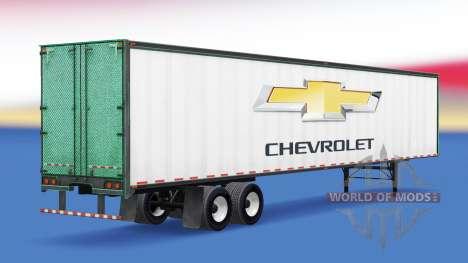 La peau de Chevrolet sur la remorque pour American Truck Simulator