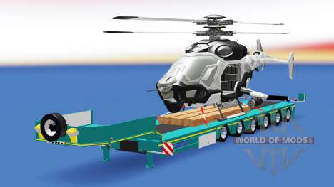 Bas de balayage avec un cargo, d'un hélicoptère  pour American Truck Simulator