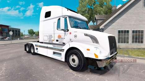 Daybreak Express skin für Volvo-LKW-VNL 670 für American Truck Simulator