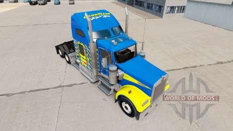 Haut Goodyear Racing truck Kenworth W900 für American Truck Simulator