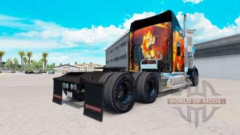 La peau des Tigres Dans les Flammes sur le camio pour American Truck Simulator