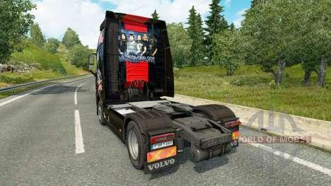 Iron Maiden peau pour Volvo camion pour Euro Truck Simulator 2