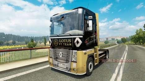 F1 Lotus skin für Renault-LKW für Euro Truck Simulator 2