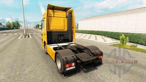 Haut Trans Europa auf LKW Mercedes-Benz für Euro Truck Simulator 2