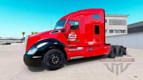 Erb-Transport-skin für die Kenworth-Zugmaschine für American Truck Simulator