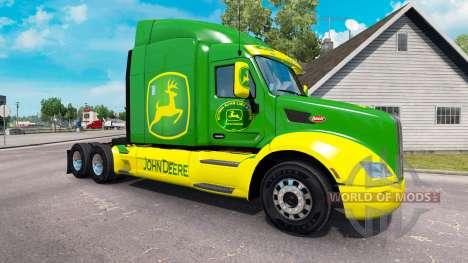 Haut John Deere Zugmaschine Peterbilt für American Truck Simulator