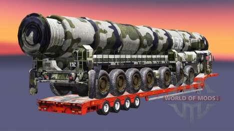 Semi transportant du matériel militaire v1.4.1 pour Euro Truck Simulator 2