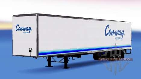 All-Metall-semi-trailer Conway für American Truck Simulator