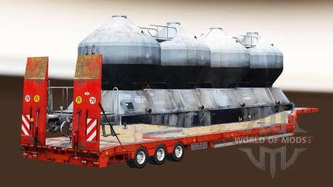 Semi-Trailer mit zeleznodoroznyj die Linie v1.4 für Euro Truck Simulator 2