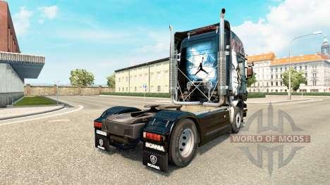 La peau MJBulls sur tracteur Scania pour Euro Truck Simulator 2