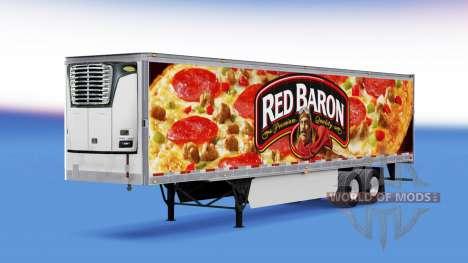 Red Baron Haut auf der reefer-trailer für American Truck Simulator