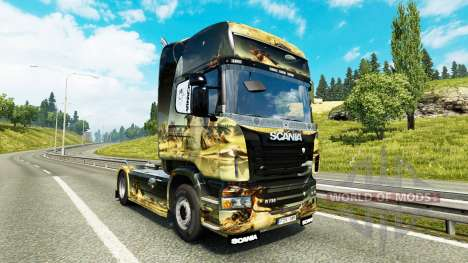 L'espace de la Scène de la peau pour Scania cami pour Euro Truck Simulator 2
