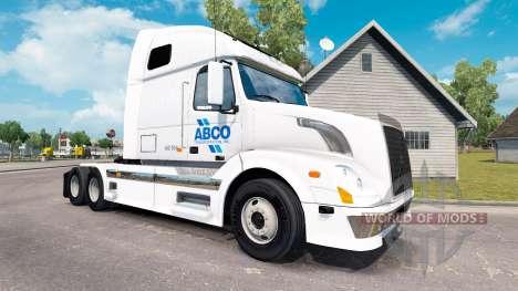 ABCO de la peau pour les camions Volvo VNL 670 pour American Truck Simulator