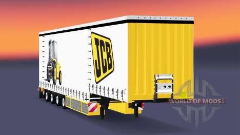 Quatre essieux rideau semi-remorque Krone v5.0 pour Euro Truck Simulator 2