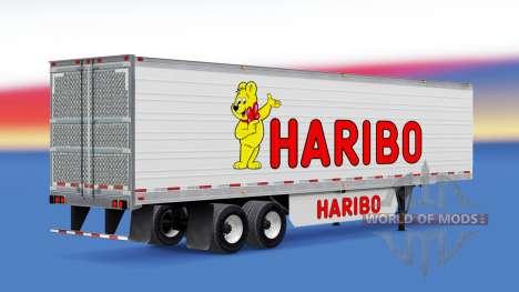 Haut Haribo auf dem Anhänger für American Truck Simulator