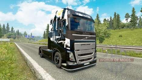 La peau Infamous Second son pour Volvo camion pour Euro Truck Simulator 2
