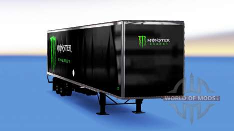 Tous métal-semi-remorque Monster Energy pour American Truck Simulator