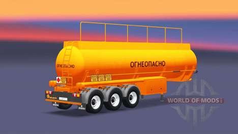 Tank semi-trailer BCM-35 für Euro Truck Simulator 2