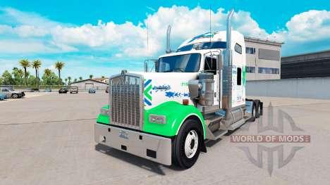La peau All Star FJ Service sur le camion Kenwor pour American Truck Simulator