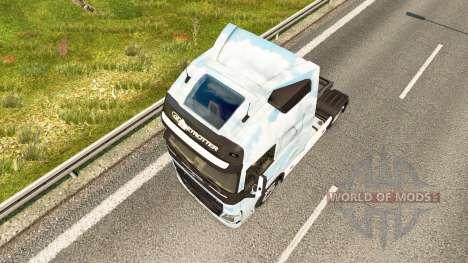 Disparu de la peau pour Volvo camion pour Euro Truck Simulator 2