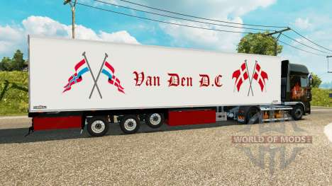 Semi-remorque frigo Chereau Van Den D. C pour Euro Truck Simulator 2