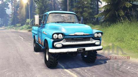 Chevrolet Apache 1959 v5.0 pour Spin Tires
