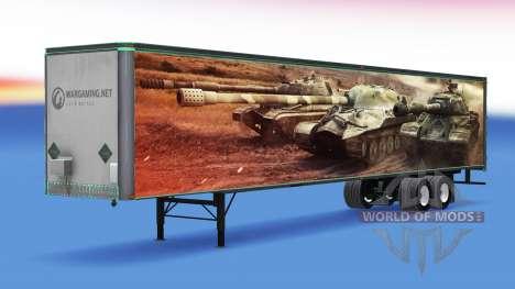 Haut World of Tanks auf dem trailer für American Truck Simulator