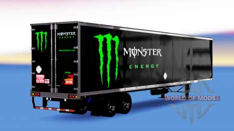 All-Metall-semi-trailer Monster Energy für American Truck Simulator