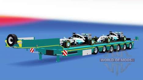 Low sweep mit einer Ladung von Autos definierbar für American Truck Simulator