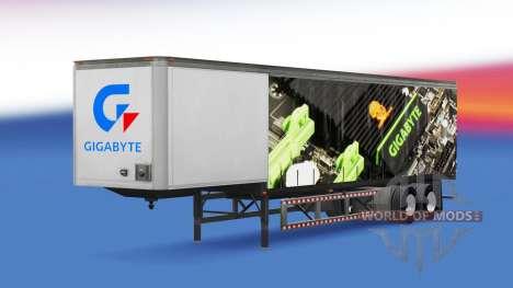 Haut Gigabyte auf einen Vorhang semi-trailer für American Truck Simulator