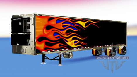 Personnalisé semi-remorque frigorifique pour American Truck Simulator