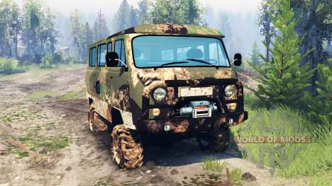 UAZ-2206 v6.0 pour Spin Tires