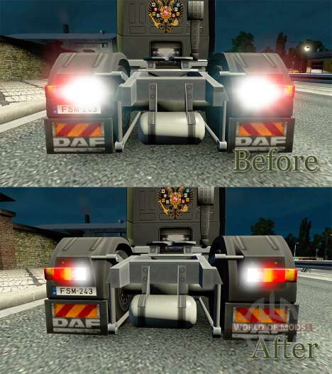 Die Wirkung der Lichter v2.0 für Euro Truck Simulator 2