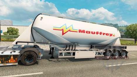 Une collection de peaux sur le ciment de la semi pour Euro Truck Simulator 2