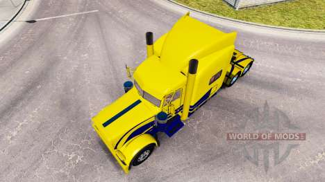 La peau Jaune et Bleu pour le camion Peterbilt 3 pour American Truck Simulator