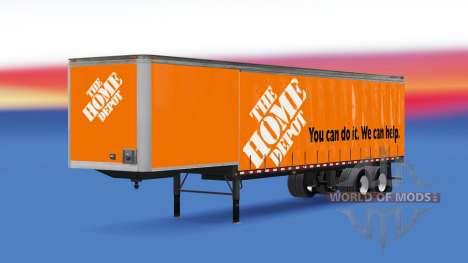 Rideau semi-remorque Home Depot pour American Truck Simulator
