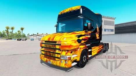 La peau Chaude de Monter sur tracteur Scania T pour American Truck Simulator