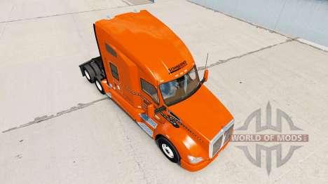 La peau Schneider National sur camion Kenworth pour American Truck Simulator