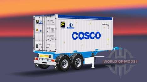 Semi-trailer mit 20-Pfund-container für Euro Truck Simulator 2