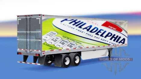 La peau de Philadelphie sur la remorque pour American Truck Simulator