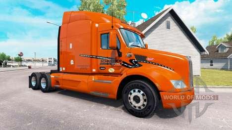 La peau Schneider National sur camion Peterbilt pour American Truck Simulator